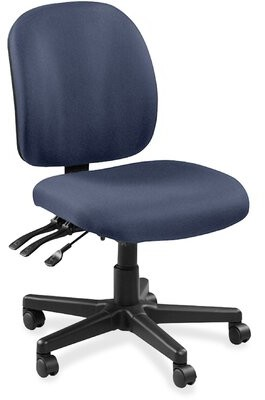 Task Chair Lorell Color: Blue
