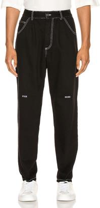 Pyer Moss Slim Denim Pant in Black | FWRD
