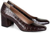 Maryam Nassir Zadeh Chocolate Croc Embossed Maryam Pumps