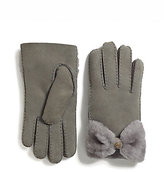 UGG Shearling Bow Shorty Gloves