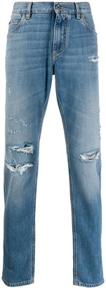 Dolce & Gabbana distressed acid wash jeans