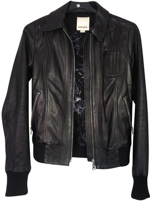 Diesel Black Leather Leather jackets