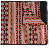 Valentino Garavani Valentino tribal print scarf - men - Silk/Wool - One Size