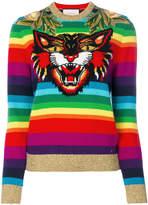 Gucci rainbow tiger jumper