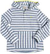 Armani Junior Hooded Striped Linen Shirt