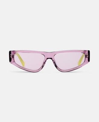 Stella McCartney lilac square sunglasses