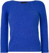 Roberto Collina long-sleeved knitted top - women - Nylon/Angora - M