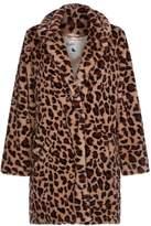 Yumi Oversized Leopard Print Faux Fur Coat