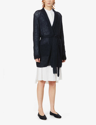 Max Mara Liuto belted mohair-blend cardigan