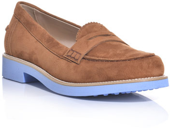 Tod's Suede bi-colour loafers