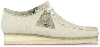Clarks Wallabee Off White Interest Shoes - UK 11