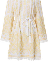 Miguelina Brinley Embroidered Coverup Dress