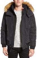 Andrew Marc Knox Faux Fur Trimmed Bomber Jacket