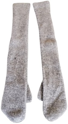 Maison Margiela Grey Wool Gloves