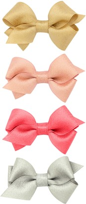 PLH Bows 4-Pack Sparkle Hair Clips