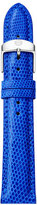 Michele 18mm Lizard Skin Watch Strap, Cobalt