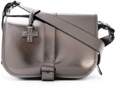 A.F.Vandevorst buckled metallic (Grey) satchel