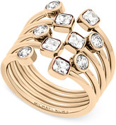 Michael Kors Multi-Crystal Stack-Look Statement Ring