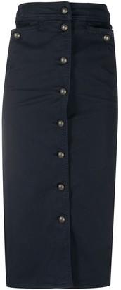 Etro Buttoned Midi Skirt