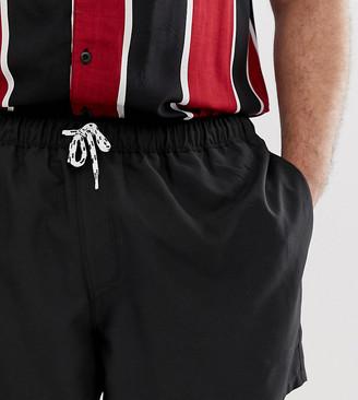 Asos Design DESIGN Plus swim shorts in black short length