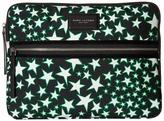 Marc Jacobs Flocked Stars Printed Biker 13 Computer Case Wallet