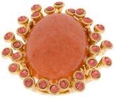 Oscar de la Renta coral stone ring