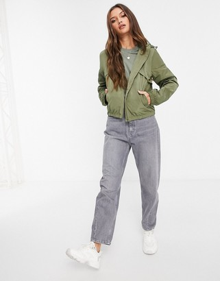 JDY Reach hooded jacket in olive