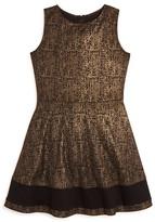Aqua Girls' Foil Print Ponte Knit Dress , Big Kid - 100% Exclusive