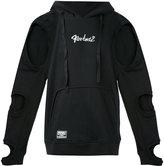 Kokon To Zai cut-detail hooded sweatshirt - men - Cotton - XS