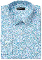 Bar III Men's Slim-Fit Aqua Floral-Print Dress Shirt, Only at Macy's