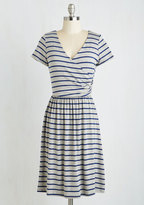 Gilli Inc Botanical Breakfast Dress in Navy Stripes