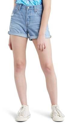 Levi's 501® Cuff Long Denim Shorts