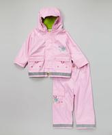 Kushies Pink Raincoat & Pants - Infant