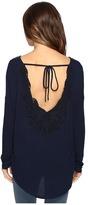 Brigitte Bailey Diara Long Sleeve Top with Open Back
