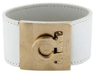 Salvatore Ferragamo Wide Gancio Bracelet White Wide Gancio Bracelet