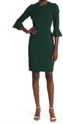 Donna Morgan Bell Sleeve Crepe Bodycon Dress