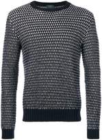 Zanone striped crew neck sweater