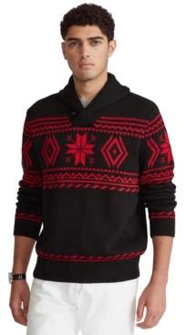 Polo Ralph Lauren Men's Snowflake Shawl-Collar Sweater