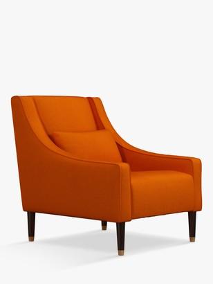 John Lewis & Partners Swept Armchair, Dark Leg, Aquaclean Harriet Orange