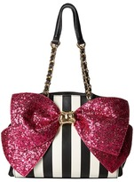 Betsey Johnson Bow-Lesque Satchel Satchel Handbags