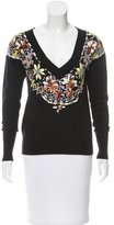 Lucien Pellat-Finet Bead-Embellished Cashmere Sweater