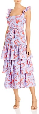 LIKELY Tiered Floral Print Dress
