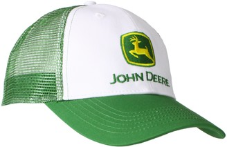 John Deere Men's Trademark Logo Trucker Mesh Back Core Baseball Cap