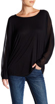 Haute Hippie Dolman Long Sleeve Mix Media Tee