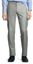 Brunello Cucinelli Glen Plaid Slim-Fit Cargo Pants, Gray