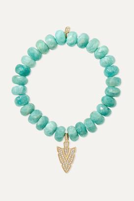 Sydney Evan 14-karat Gold Amazonite And Diamond Bracelet