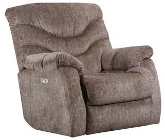 Alecio Power Recliner Lane Furniture Upholstery Color: Taupe, Reclining Type: Power, Motion Type: Wallsaver with Heat & Massage