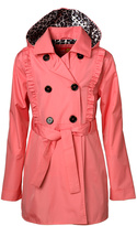 Coral Trench Coat - Girls