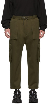 Juun.J Khaki Tapered Cargo Pants