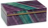 Lola Rose London Stone Print Large Treasure Box Rainbow Fluorite With Tray